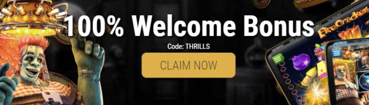 CryptoThrills Casino promo code