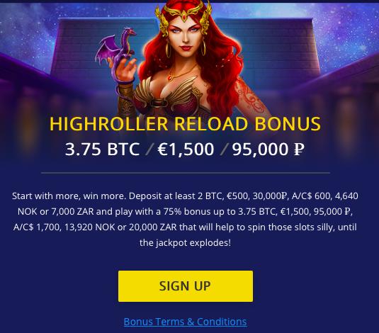 BetChain Highroller Reload Bonus