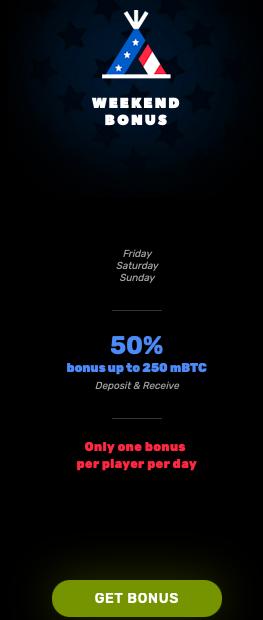 Bitcoincasino.us bonuses