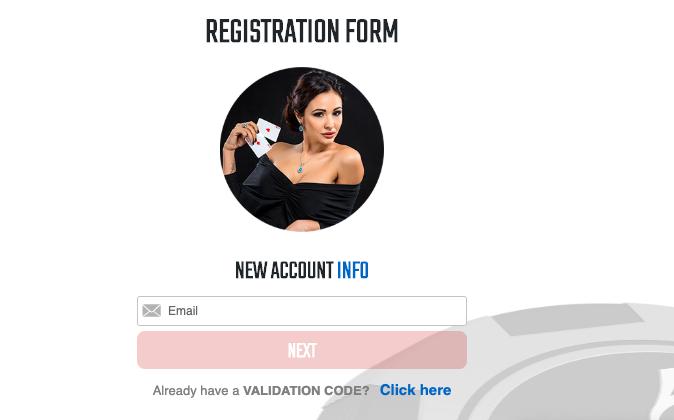 Black Chip Poker account registration