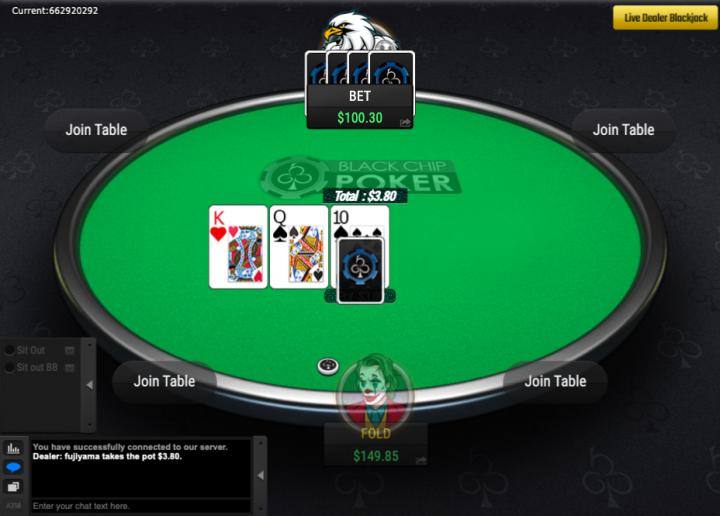 Black Chip Poker crypto cardroom