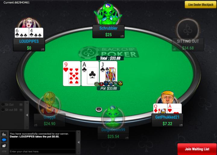 Black Chip Poker no deposit bonus