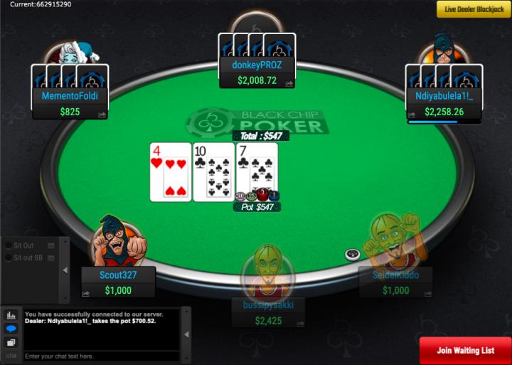 Black Chip Poker bitcoin cardroom