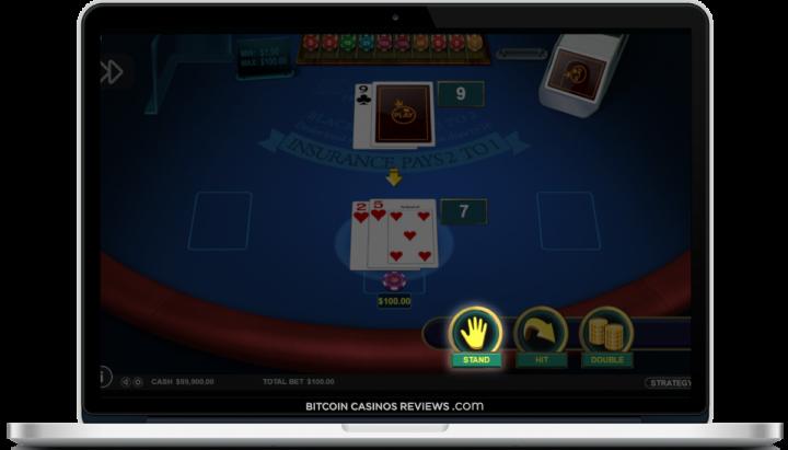 bitcoin blackjack ao vivo