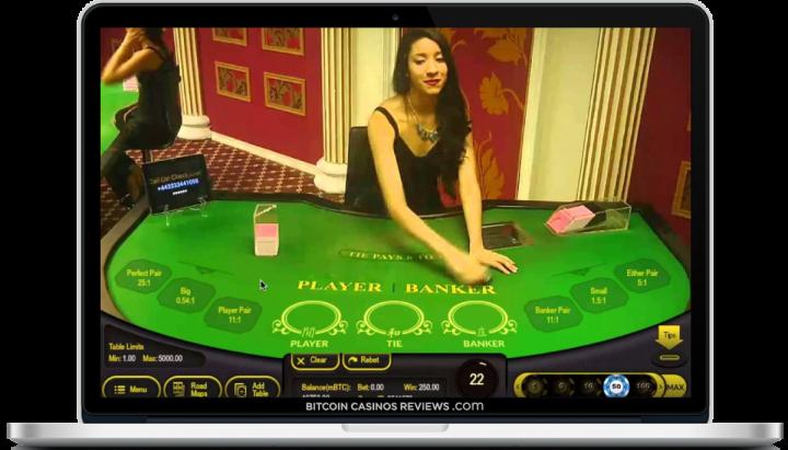 Баккара в казино живых биткойнов
