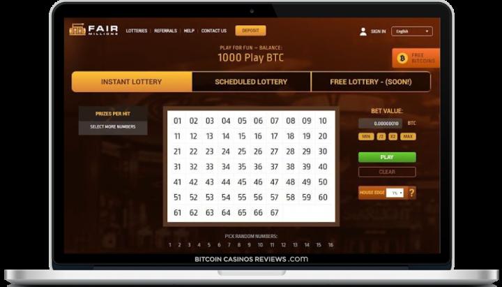 BTC лотерея