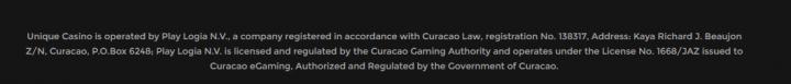 Unique Casino bitcoin