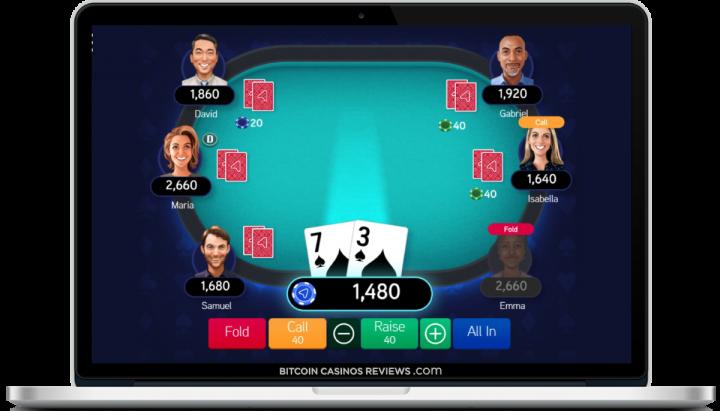BTC покер