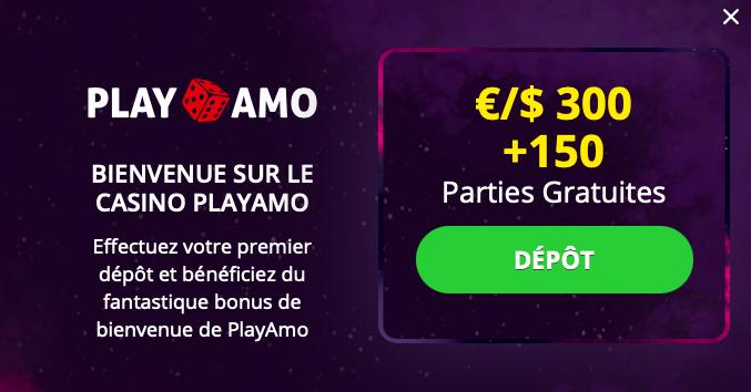 Bonus PlayAmo sans dépôt