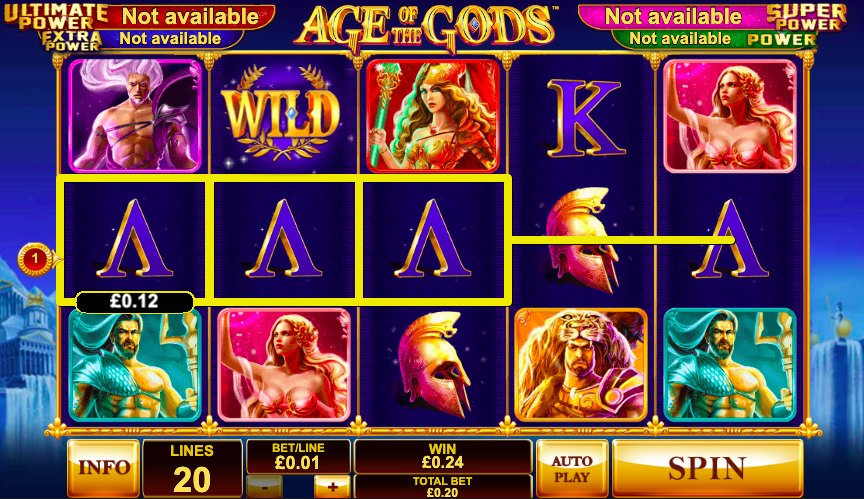 age of the gods jackpot slots