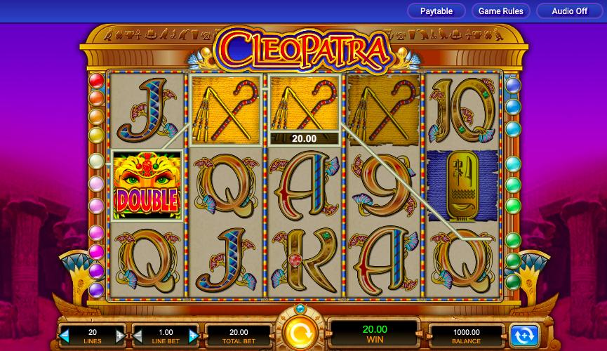 cleopatra egyptian slot