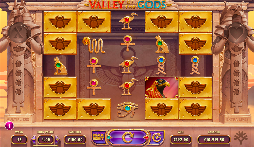 valley of the gods egyptian slot