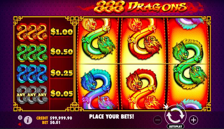 888 dragons 3 reel slot