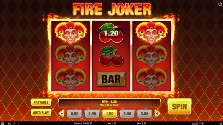 fire joker 3 reel slot