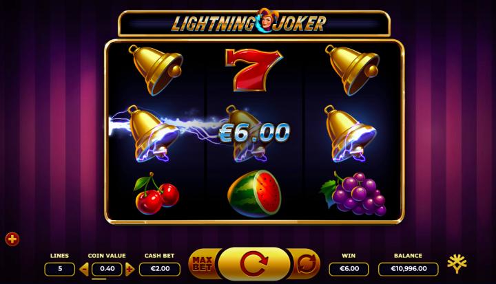 lightning joker 3 reel slot