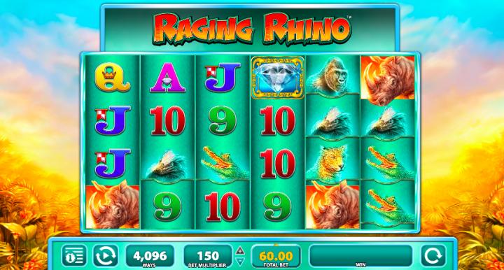 raging rhino high volatility slots