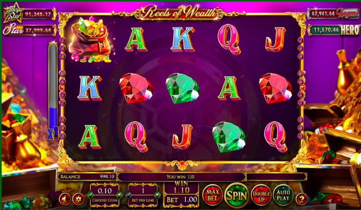 reels of wealth low volatility slot