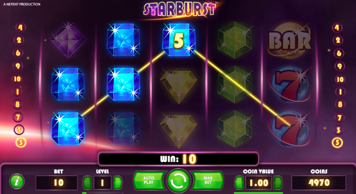 starburst low volatility slots