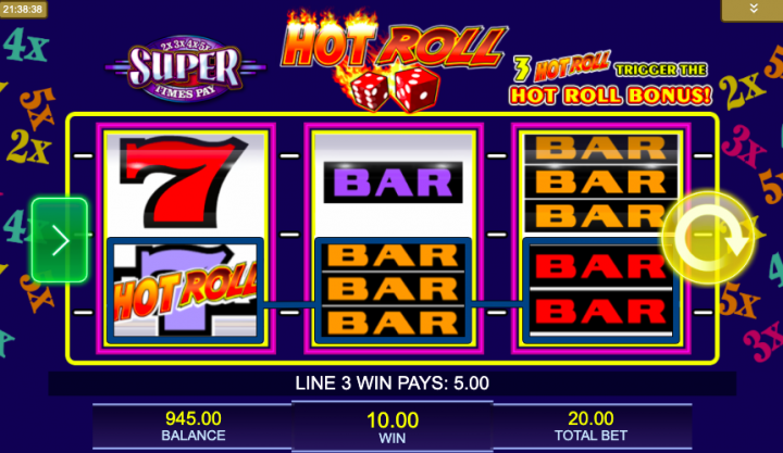 super times pay 3 reel slot