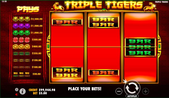 triple tigers pragmatic play