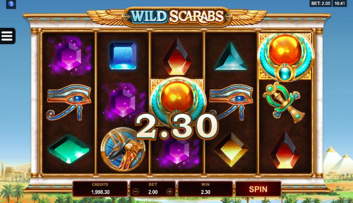 wild scarabs low volatility slot