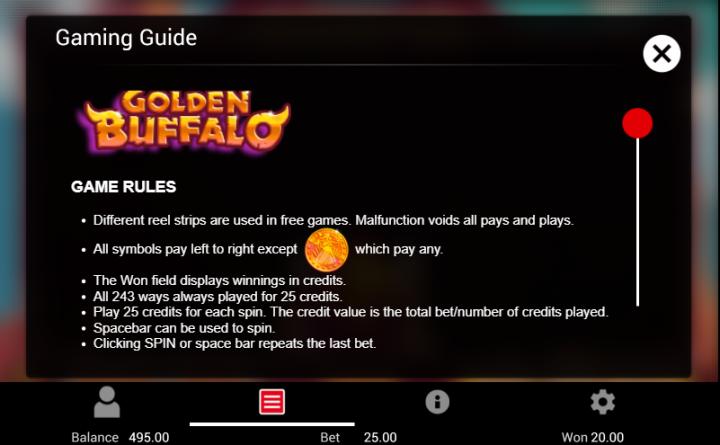 Golden Buffalo guide