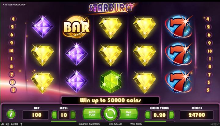 mainkan Starburst gratis